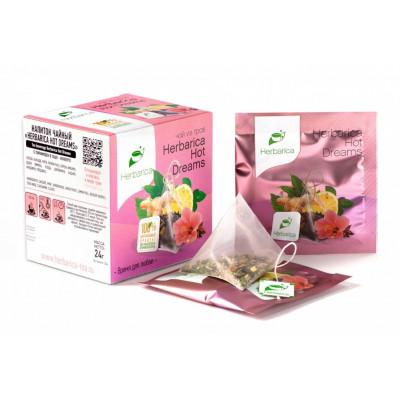 Напиток чайный Herbarica Hot Dreams время для любви 12 пирамидок в саше-конвертах 24 гр