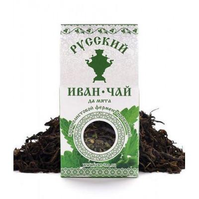 Русский Иван-Чай ферментированный с Мятой 50 гр.