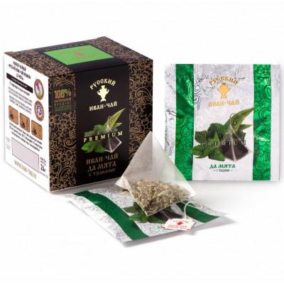 Русский Иван-чай Premium да мята с травами 24 гр. 12 пирамидок в саше-конвертах