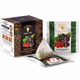 Русский Иван-чай Premium да смородина с травами 24 гр 12 пирамидок в саше-конвертах