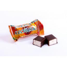 Конфеты Вологодские сбивные Абрикосовая косточка весовые в завертке 4 кг