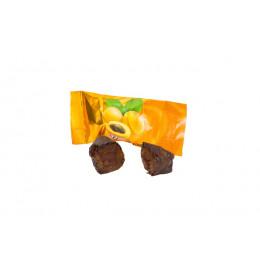 Конфеты Вологодские глазированные Фрукты с Курагой весовые в завертке 4 кг
