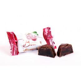 Конфеты Вологодские желейные Вишня в желе весовые в завертке  4 кг