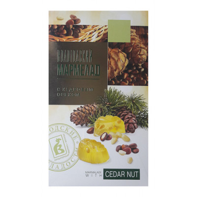 Мармелад из Вологды с кедровым орехом 280 гр