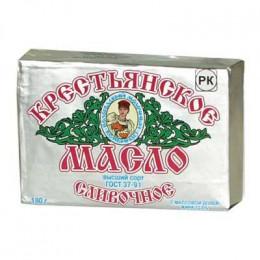 Масло крестьянское Вологодское 72,5% 180 гр в пачке ВМК