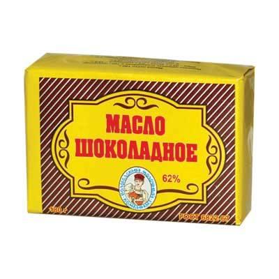 Масло шоколадное Вологодское 62% 180 гр в пачке ВМК