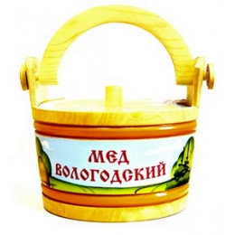 Мёд Вологодский цветочный 1000 гр. в ушате Пейзаж
