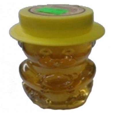 Мед натуральный цветочный стеклянная банка Мишка 400 гр