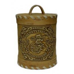 Мёд Вологодский цветочный 800 гр в берестяном туесе