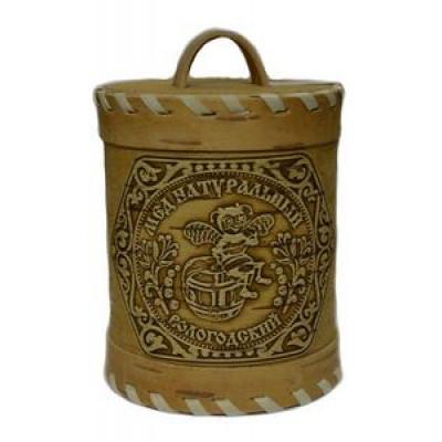 Мёд цветочный из Вологды 800 гр в берестяном туесе