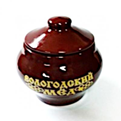 Мёд Вологодский цветочный 150 гр. в глазурованном керамическом горшочке