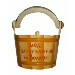 Мёд Вологодский цветочный 1000 гр. в ушате Досочка
