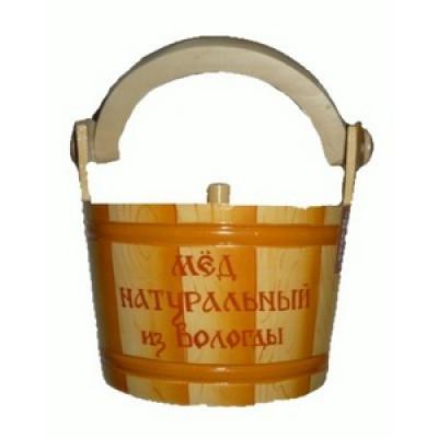Мёд цветочный из Вологды 700 гр в ушате Досочка