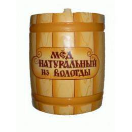 Мёд Вологодский цветочный 800 гр в бочонке Досочка