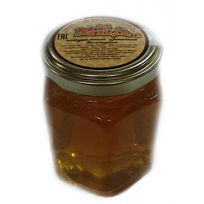 Мед натуральный цветочный стеклянная банка шестигранник 250 гр