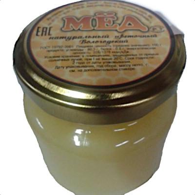 Мед натуральный цветочный стеклянная банка 350 гр