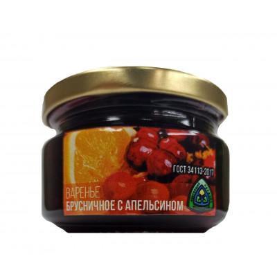 Варенье Брусничное с апельсином 300 гр