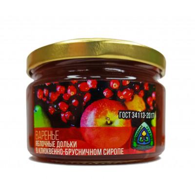 Яблочные дольки в клюквенно-брусничном сиропе 300 гр