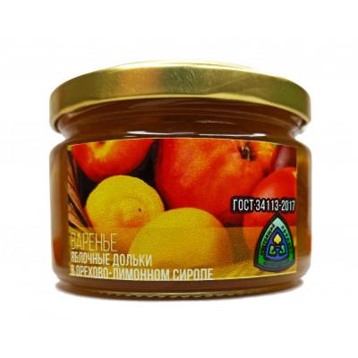 Яблочные дольки в орехово-лимонном сиропе 300 гр