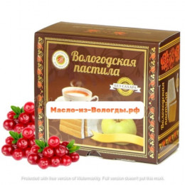 Пастила яблочная без сахара с вишней 115 гр Вологодская мануфактура
