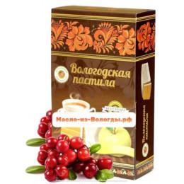 Пастила яблочная без сахара с вишней 230 гр Вологодская мануфактура