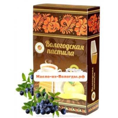 Пастила яблочная без сахара с брусникой 230 гр Вологодская мануфактура