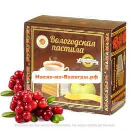 Пастила яблочная без сахара с черникой 115 гр Вологодская мануфактура