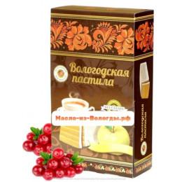 Пастила яблочная без сахара с черникой 230 гр Вологодская мануфактура