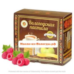 Пастила яблочная без сахара с малиной 115 гр Вологодская мануфактура