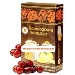 Пастила яблочная без сахара с черёмухой 230 гр Вологодская мануфактура