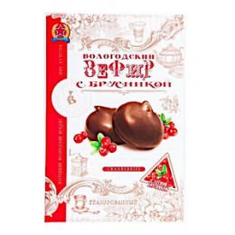 Зефир Вологодский глазированный с брусникой 250 гр